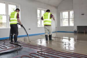 Factory produced, pump applied Sudanit 280 Alpha Hemihydrate Floor Screed_by Fast Floor Screed Ltd