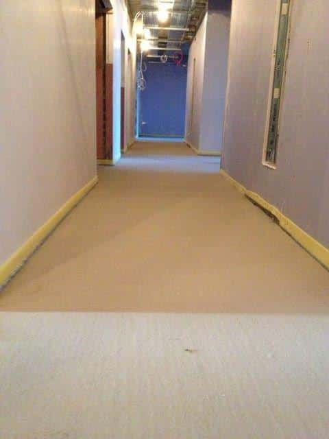Self Leveling Screed : Healthcare care homes fast floor screed
