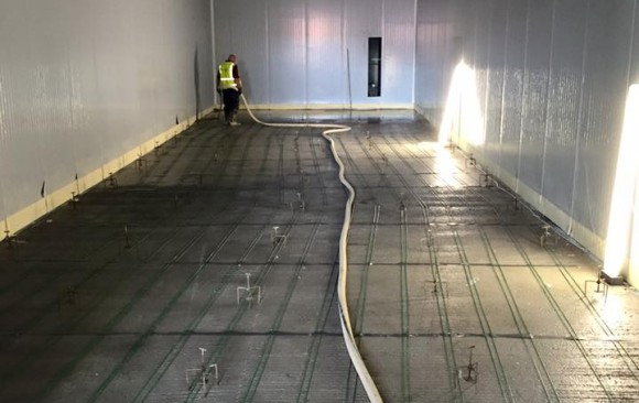 Floor Screed over UFH, Blast Chill Facility, DC Poultry Rathcoole