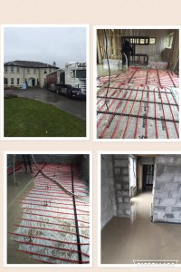Renovation in Garry Hill Co Carlow, 300m2 self levelling screed -Mobile Screed Factory