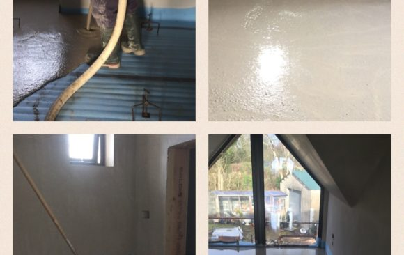 Fast Floor Screed_Acoustic floor system timberframe house Co Wexford 153m2