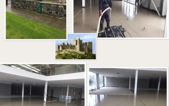 Car show room for Colm Hanly Motors Ltd_ 400m2 over Underfloor Heating _CE Certified Alpha Hemihydrate screed_Fast Floor Screed Ltd