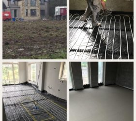 Self Build Tipperary_Fast Floor Scree_ CE certified Alpha Hemihydrate over UFH 330m2 at 50mm