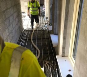 Tipperary _ 270m2 at 50mm of CE Certified Alpha Hemihydrate screed over UFH_fast Floor Screed