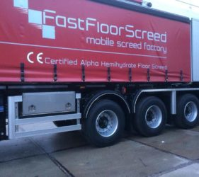 Fast Floor Screed latest aquistion_S4.08.13 Bremat Mobile Screed Factory_ Scania 8×4 rigid_