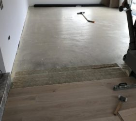 Fast Floor Screed_ UFH run at 35 degrees continuously for 7 days screed below 0.5%