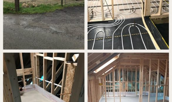 Fast Floor Screed Mobile factory in Carlow for Lalor construction 300m2 in under 3 hours UFH