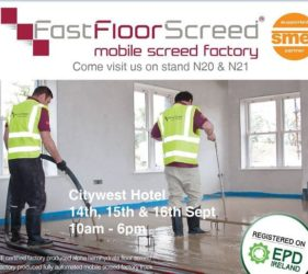 SELF BUILD LIVE SHOW - we are exhibiting 14th-16th Sept in Citywest Hotel_Fast Floor Screed Ltd