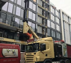 Cairn Plc in Hanover quay_alpha hemihydrate screed_apartments- Fast Floor Screed