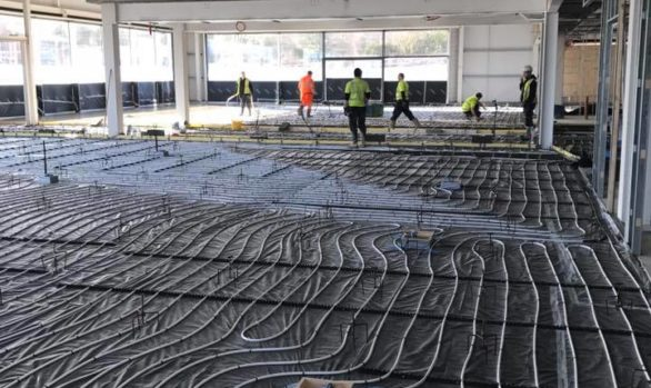 Fast Floor Screed Ltd_ 920 m2 Land Rover Jaguar showroom Cork with Summerhill Construction