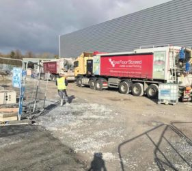 Fast Floor Screed_ 920m2 Land Rover Jaguar showroom Cork with Summerhill Construction