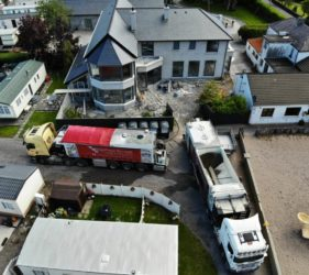 Fast Floor Screed mobile screed factories pour in O'Connors, Glenbeigh, Co Kerry