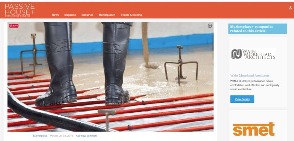 Passive house article WMA Fast Floor Screed_June 19