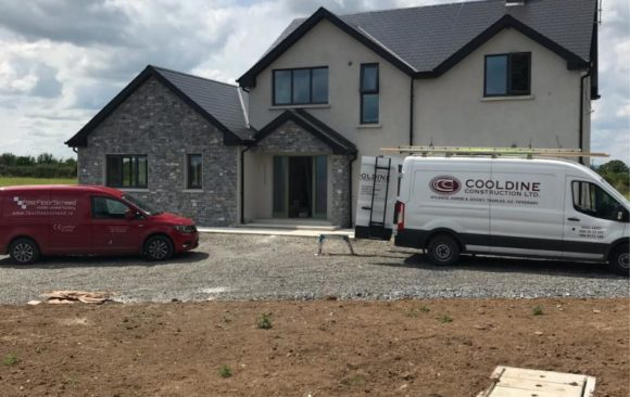 Fast Floor Screed Mobile screed factory for Cooldine Tipperary
