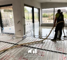Alpha Hemihydrate Screed pour for P Loughran Construction_Malahide