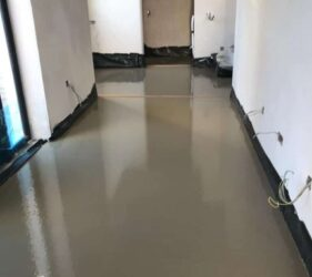 Fast Floor Screed _380m2 Alpha Hemihydrate Screed_over UFH_Mobile Screed Factory_Borris Carlow