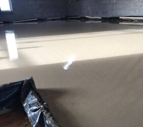 Fast Floor Screed _Alpha Screed_280 over UFH_A&JMartin_first floor_Co Wicklow
