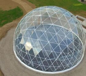 Geodesic Dome_Bray_Fast Floor Screed Mobile Screed Factory