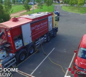 Geodesic Dome_Bray_Fast Floor Screed Mobile Screed Factory_