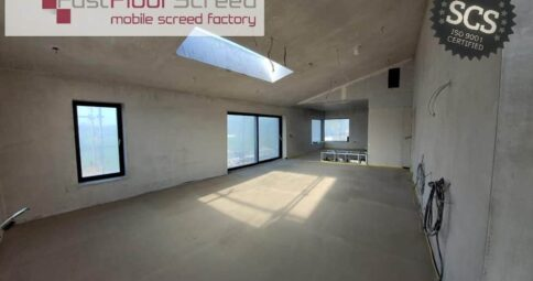 Fast Floor Screed Mobile Screed Factory_SelfBuild_Clane_300m2_Alpha Hemihydrate Screed over UFH in 3 hours