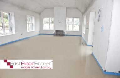 Fast Floor Screed Ltd_Sudanit 280 Alph Hemihydrate Screed_dried floor