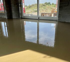 Fast Floor Screed Ltd   Cooldine Construction   new build   Alpha hemihydrate self levelling screed